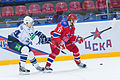 Ozhiganov and Zharkov 2012-11-02 CSKA Moscow—Amur Khabarovsk KHL-game.jpeg