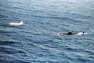 P-3C VP-23 over Victor III sub over the Atlantic 1983.JPEG