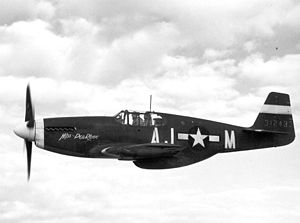 "354th Operations Group - North American P-51B-1-NA 43-12433 ""Miss Pea Ridge"" AJ-M flown by Capt Mack Tyner in the 356th FS 354th FG 9th AF in 1944 (later transferred to the 362nd FS 357th FG and re-badged as ""G4-L"")."