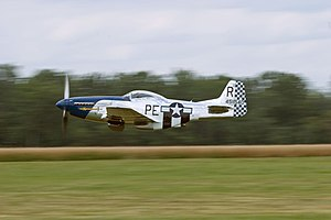 Geneseo (village), New York - A P-51 Mustang at the 2007 Geneseo Airshow.