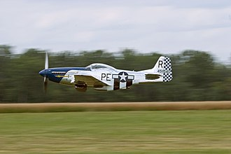 Geneseo, New York - A P-51 Mustang at the 2007 Geneseo Airshow.