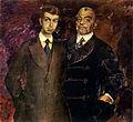 P.I.Kharintonenko with son by F.Malyavin (1911, Kharkin).jpg