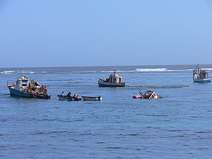 Port Nolloth - Fishing vessels and diamond prospectors in Port Nolloth harbour