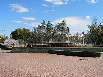 Pavlodar - Fountain in riverside park