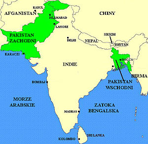 English: Pakistan before the Bangladesh War in...