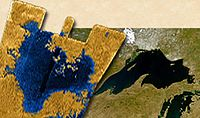 PIA09184 -Titan Sea and Lake Superior