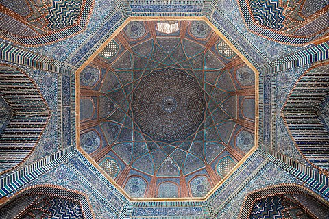 Dome interior, Shah Jahan Mosque, Thatta
