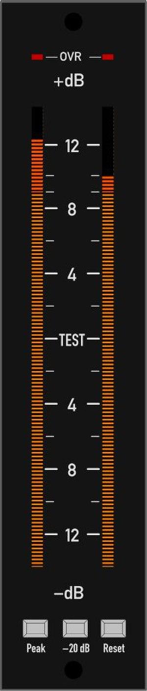 VU meter - Neon bar graph VU meter