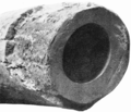 PSM V56 D0375 Lead pipe showing eight month electrolytic action.png
