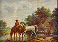 Paarden in het wed door Jan Ensing.jpg