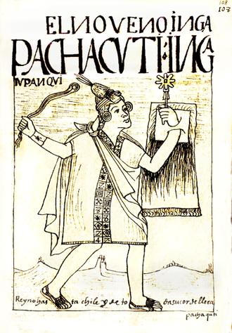 Pachacuti - Pachacuti as drawn by Guaman Poma