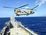Pacific Waterborne, Air Assault, Aviation Soldiers work together during maritime rappel-sling load operations 150211-A-YZ662-001.jpg