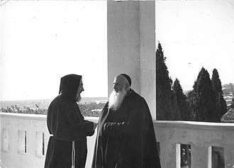 Padre Pio - Padre Pio with Padre Clemente Tomay, his friend and confessor