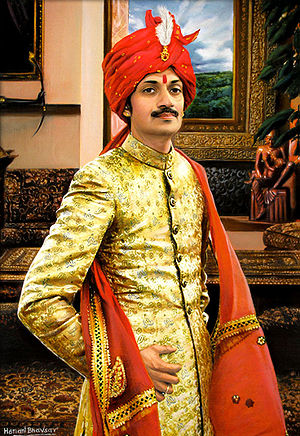 Rajpipla State - Painting of Manvendra Singh Gohil of the Rajpipla royal family