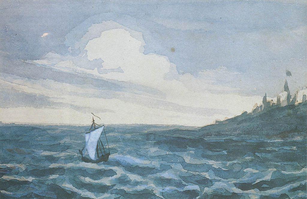 Лермонтов М. Ю. Морской пейзаж, 1828-1931