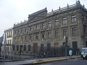 Palace of the Marqués del Apartado - Rep. de Argentina facade of the building.