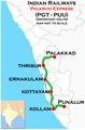 Palaruvi Express (Palakkad - Punalur) Route map.png