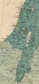 Palestine in Maunsell's map, Pre-World War I British Ethnographical Map of eastern Turkey in Asia, Syria and western Persia 06.png