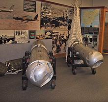 Dos bombas de Palomares en el Museo Nacional de Ciencia e Historia Nuclear de Albuquerque (Nuevo México).