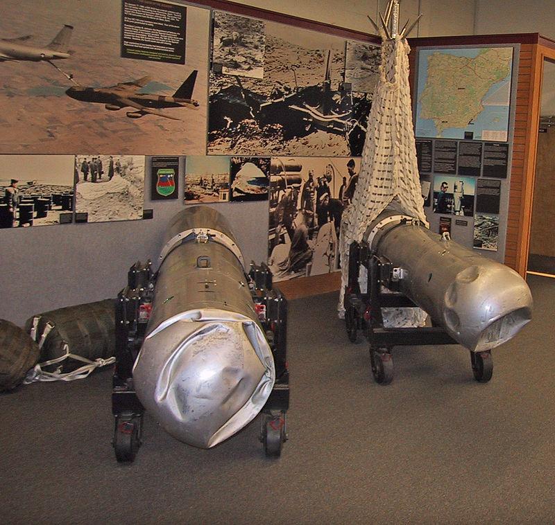 Dos de las bombas rescatadas de Palomares, hoy en el museo del ejército de EE.UU. en Albuquerque, Nuevo México