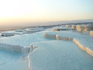 Calcium - Travertine terraces in Pamukkale, Turkey