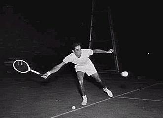 Pancho Gonzales - Gonzales practicing in Australia in 1954