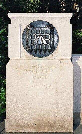 Emmeline and Christabel Pankhurst Memorial - Image: Pankhurst WSPU Badge