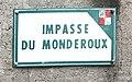 Panneau de l'impasse du Monderoux (Beynost).JPG