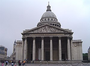 Marquis de Condorcet - Condorcet was symbolically interred in the Panthéon (pictured) in 1989.