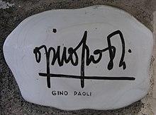 Autografo di Gino Paoli sul Muretto di Alassio