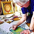 Papp Oscar Hungarian painter in work time 06 06 2003.jpg