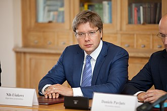 Russia–European Union relations - Nils Ušakovs, the first ethnic Russian mayor of Riga in independent Latvia