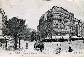 Académie de La Palette - Paris, ca.1900, Rue de l'Arivée, Avenue du Maine, Montparnasse, 15th arrondissement of Paris