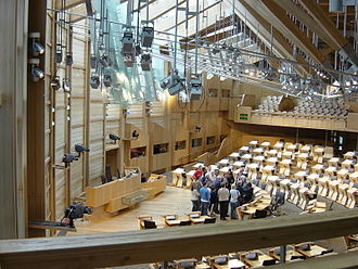 Premiership of Tony Blair - The Scottish Parliament Building in Holyrood