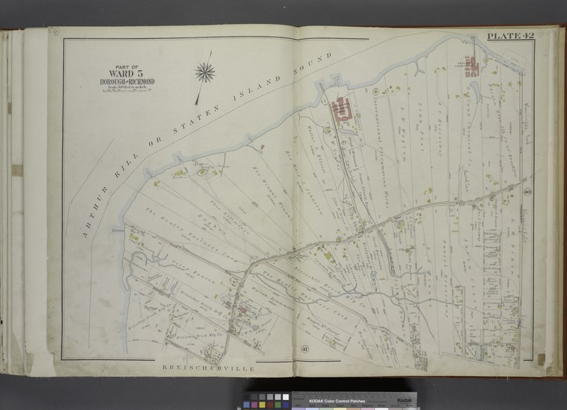 File:Part of Ward 5. (Map bound by Arthur Kill or Staten Island Sound, Arthur Kill Road (Fresh Kills RD), Pleasant Ave, Guyon Ave, Clay Pit Road, Winant PL, Sharrotts Road, Ellis Road) NYPL1646309.tiff