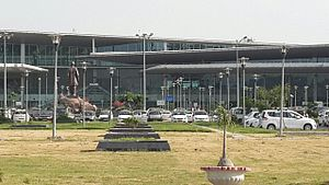 Chaudhary Charan Singh International Airport - Partial image of CCs International airport