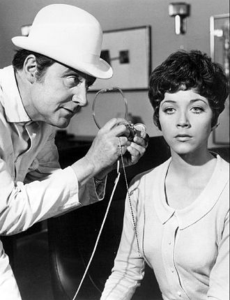 John Steed - Macnee as John Steed with Linda Thorson, 1968