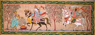 Pattachitra - Pattachitra were inspired by Jagannath culture in Odisha