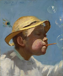 Paul Peel - The Bubble Boy - Google Art Project