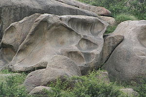 Viratnagar - Natural Rock formation in shape of paw or leg impression
