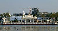 Pawapuri - 001 Temple marking Mahavira's Passing (9243092471).jpg