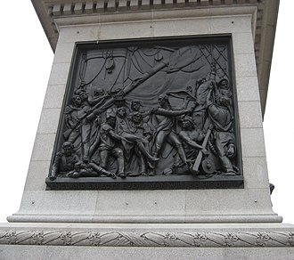 England expects that every man will do his duty - Inscription at the bottom of The Death of Nelson, a bas-relief by John Edward Carew affixed to Nelson's Column, reads ENGLAND EXPECTS EVERY MAN WILL DO HIS DUTY.