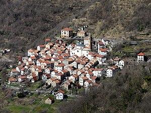 Panorama della frazione di Pentema, Torriglia,...