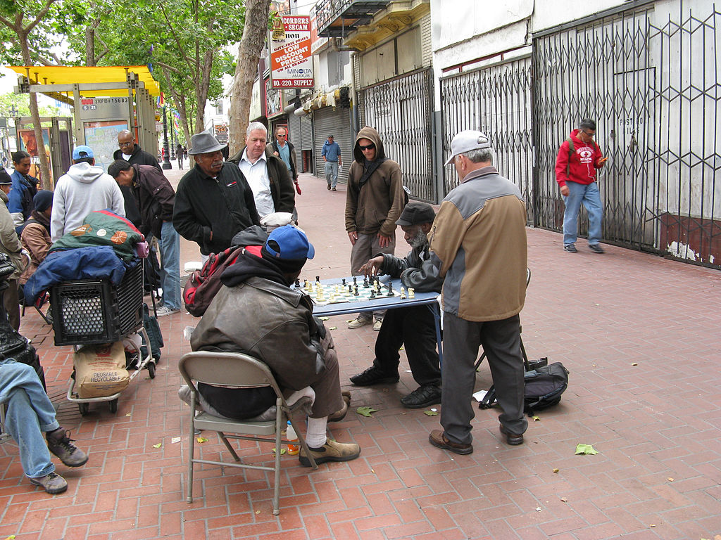 People playing chess-Tenderloin-San Francisco
