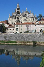 The Cathedral of Saint-Front, Perigueux, France, has five domes like Byzantine churches, but is Romanesque in construction.