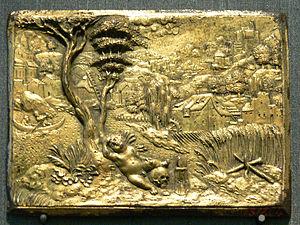 Plaquette - Peter Flötner, Vanitas, 1535–1540, gilt bronze