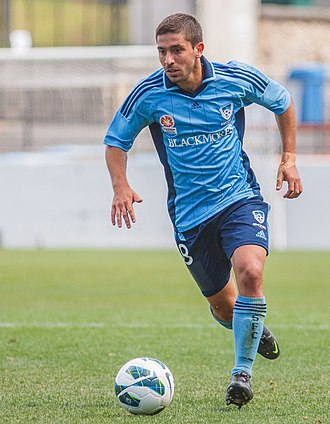 Peter Triantis - Triantis playing for Sydney FC Youth in 2012