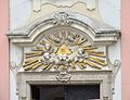 Pfarrkirche Schwechat - eye of providence above portal.jpg