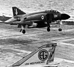 Phantom FG1 892 NAS landing on USS Independence (CVA-62) 1972.jpg