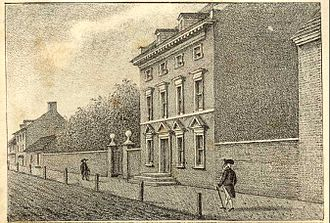 Tobias Lear - President's House, Philadelphia, Pennsylvania. Lear lived and worked in Washington's presidential mansion, 1790-93. His son was born there, and his first wife died there.